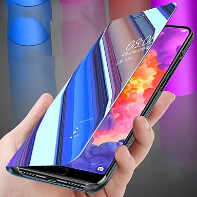 voordelige Huawei Y-serie hoesjes / covers-hoesje Voor Huawei Huawei Nova 3i / Huawei Honor 8X / Huawei Honor 8X Max Beplating / Spiegel / Flip Volledig hoesje Effen Hard PC / silica Gel