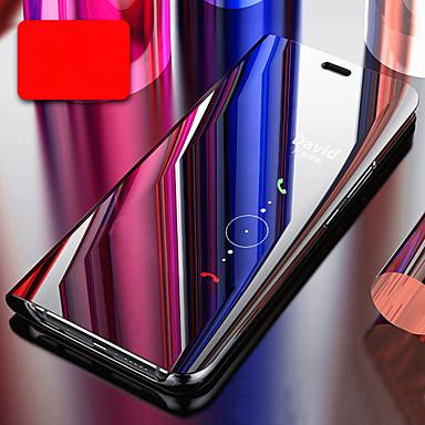 billige Etuier/covers til Huawei-Etui Til Huawei P20 / Huawei P30 Belægning / Spejl / Flip Fuldt etui Ensfarvet Hårdt PC / silica Gel for Huawei P20 / Huawei P20 Pro / Huawei P20 lite