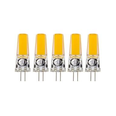 5pcs 3 W Luces LED de Doble Pin 400-500 lm G4 T 1 Cuentas LED COB Decorativa Blanco Cálido Blanco Fresco 12 V 24 V