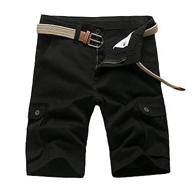 economico Pantaloni da uomo-Per uomo Essenziale Pantaloncini Pantaloni - Tinta unita Giallo Verde militare Cachi 38 42 44
