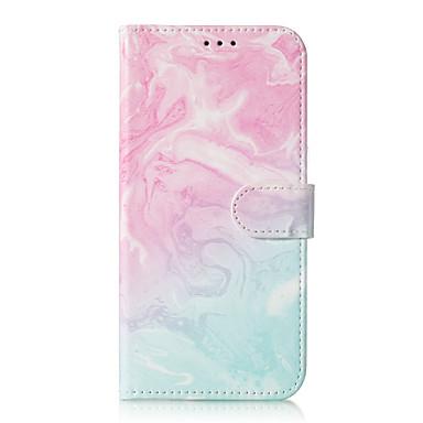 Недорогие Чехлы и кейсы для Galaxy S6 Edge-Кейс для Назначение SSamsung Galaxy S9 / S9 Plus / S8 Plus Бумажник для карт / С узором Чехол Мрамор Твердый Кожа PU