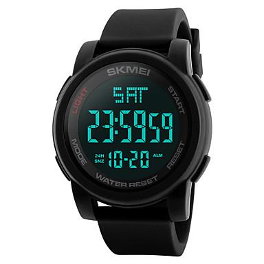 Недорогие Часы на металлическом ремешке-SKMEI Муж. электронные часы Цифровой Нержавеющая сталь силиконовый Черный / Синий / Зеленый 50 m Защита от влаги Календарь С двумя часовыми поясами Цифровой На каждый день На открытом воздухе -