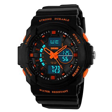 Χαμηλού Κόστους Ανδρικά ρολόγια-SKMEI Ανδρικά Ψηφιακό ρολόι Ψηφιακό Μαύρο 30 m Ανθεκτικό στο Νερό Ημερολόγιο Διπλές Ζώνες Ώρας Αναλογικό-Ψηφιακό Υπαίθριο Μοντέρνα - Πορτοκαλοκόκκινο Πράσινο Μπλε