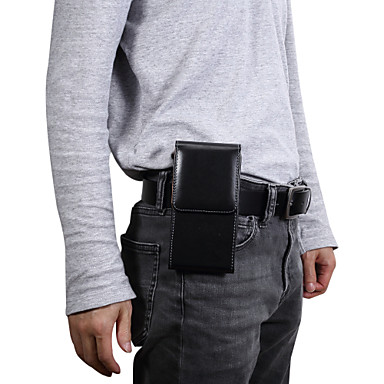 voordelige Universele hoesjes & tasjes-hoesje Voor Blackberry / Apple / Samsung Galaxy Universeel Kaarthouder Heuptassen Effen Zacht PU-nahka