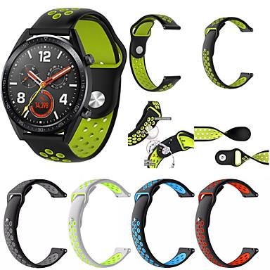 Недорогие Ремешки для часов Huawei-Ремешок для часов для Huawei Watch Huawei Классическая застежка силиконовый Повязка на запястье