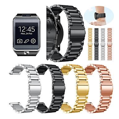 voordelige Horlogebandjes voor Samsung-Horlogeband voor Gear 2 R380 / Gear 2 Neo R381 / Gear Live Samsung Galaxy Sportband / Klassieke gesp Metaal / Roestvrij staal Polsband