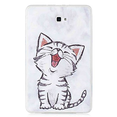 voordelige Samsung Tab-serie hoesjes / covers-hoesje Voor Samsung Galaxy Tab E 9.6 / Tab A 10.1 (2016) Patroon Achterkant Kat Zacht TPU
