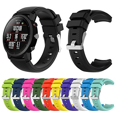voordelige Smartwatch-accessoires-Horlogeband voor Huami Amazfit A1602 / Huami Amazfit Stratos Smart Watch 2 / 2S Xiaomi Sportband Silicone Polsband