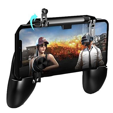 olcso Videojáték tartozékok-pugb mobil játékvezérlő ingyenes tűz pubg mobil joystick gamepad fém l1 r1 gomb iphone játékpadhoz android