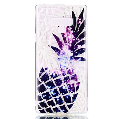 voordelige Galaxy Note-serie hoesjes / covers-hoesje Voor Samsung Galaxy Note 9 Patroon Achterkant Veren / Bloem Zacht TPU