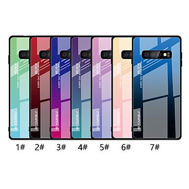 voordelige Galaxy A-serie hoesjes / covers-hoesje Voor Samsung Galaxy A6 (2018) / A6+ (2018) / Galaxy A7(2018) Ultradun Achterkant Kleurgradatie Hard Gehard glas