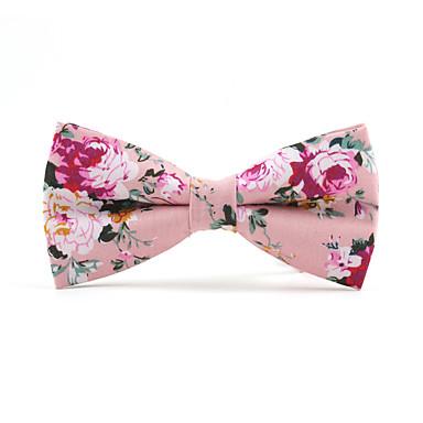 baratos Acessórios Masculinos-Homens Festa / Activo / Estilo bonito Gravata Borboleta Floral / Estampado / Jacquard