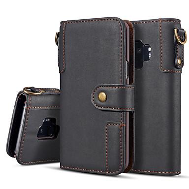 levne Galaxy S6 Pouzdra a obaly-Carcasă Pro Samsung Galaxy S9 / S9 Plus / S8 Plus Peněženka / Flip / Magnetické Celý kryt Jednobarevné Pevné PU kůže