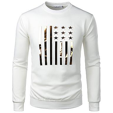 economico Abbigliamento uomo-T-shirt - Taglie UE / USA Per uomo Jacquard, Tinta unita / Pop art / Animali Rotonda - Cotone Blu XL