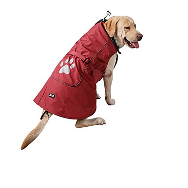 cheap Dog Clothing & Accessories-Dogs Cats Rain Coat Vest Dog Clothes Solid Colored Red Blue Nylon Costume For Husky Labrador Alaskan Malamute Fall Winter Unisex Warm Ups Casual / Sporty
