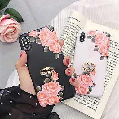 voordelige iPhone 6 Plus hoesjes-hoesje voor apple iphone xr / iphone xs max patroon / ringhouder achterkant bloem soft tpu voor iphone 6 6 plus 6s 6s plus 7 8 7 plus 8 plus x xs