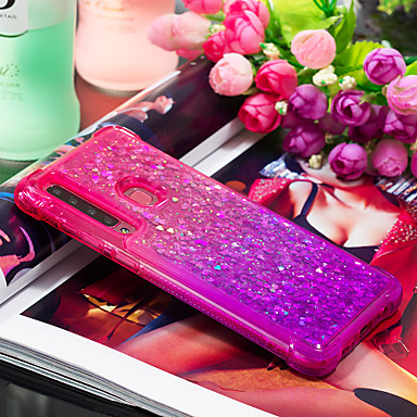 voordelige Galaxy A-serie hoesjes / covers-hoesje Voor Samsung Galaxy Galaxy A7(2018) / Galaxy A9 (2018) Schokbestendig / Stromende vloeistof Achterkant Kleurgradatie Zacht TPU