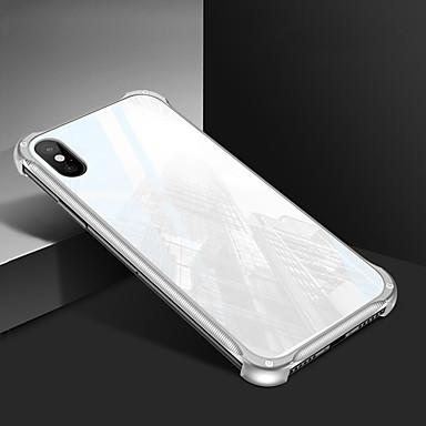 voordelige iPhone X hoesjes-hoesje Voor Apple iPhone XS / iPhone XR / iPhone XS Max Spiegel Achterkant Effen Hard Gehard glas