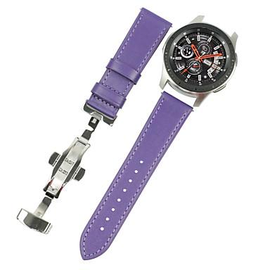 voordelige Horlogebandjes voor Samsung-Horlogeband voor Gear S3 Frontier / Gear S3 Classic / Gear S3 Classic LTE Samsung Galaxy Klassieke gesp Echt leer Polsband