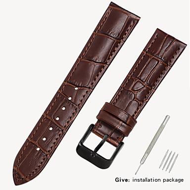 billige Herreure-læderrem mænds læder ur med armbånd tilbehør damer erstatning dw tissang longines cassi europa og USA king 16/18/19 / 20mm