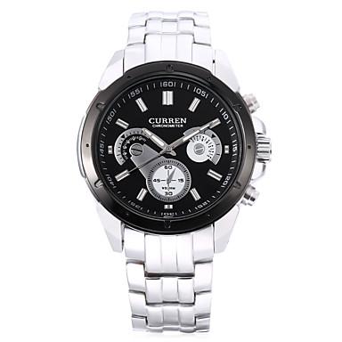 levne Pánské-CURREN Pánské Sportovní hodinky japonština Japonské Quartz Černá / Bílá 30 m Voděodolné Hodinky na běžné nošení Analogové Módní - Bílá Černá Černá / Bílá