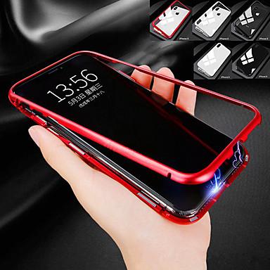 voordelige iPhone 6 Plus hoesjes-hoesje Voor Apple iPhone XS / iPhone XR / iPhone XS Max Schokbestendig / Transparant / Magnetisch Achterkant Effen Hard Gehard glas / Metaal