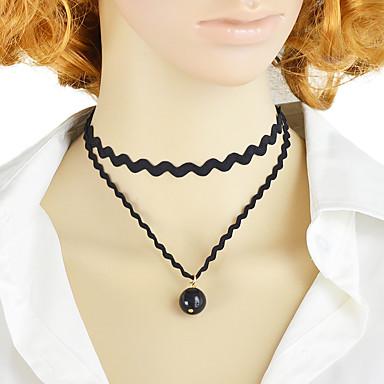 levne Módní náhrdelníky-Dámské tetování obojek Stohovatelné Módní Moderní Kabel Bílá Černá 30 cm Náhrdelníky Šperky 1ks Pro Denní Práce Festival