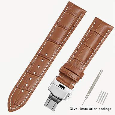 billige Herreure-erstatningsvæv 1853 mænds læder ur med locke kvinders læder konge casio longines armbånd tilbehør 16/18/19 / 20mm