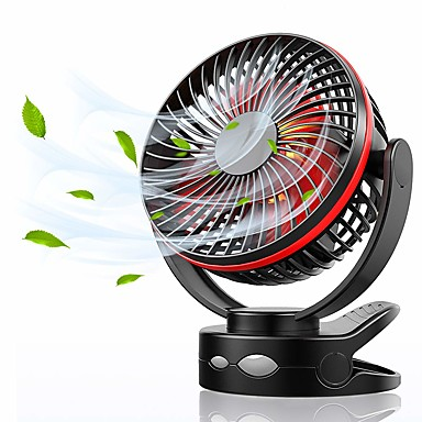 billige Vifte-mimi klippevifte med nattlys, usb skrivebordsvifte med 360 ° manuell rotasjonsvifte