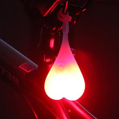 رخيصةأون اضواء الدراجة-LED اضواء الدراجة ضوء لمبات الصمام ضوء الدراجة الخلفي أضواء السلامة ركوب الدراجة ضد الماء تصميم جديد سهل الحمل CR2032 20 lm cr2032 البطارية أحمر أزرق أخضر أخضر
