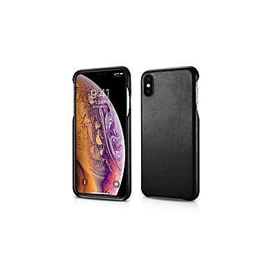 voordelige iPhone X hoesjes-hoesje Voor Apple iPhone XS / iPhone XS Max / iPhone X Stofbestendig Achterkant Effen Hard aitoa nahkaa