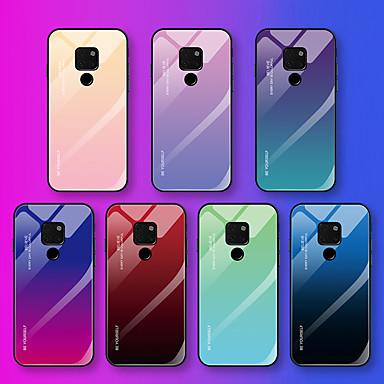 voordelige Huawei Mate hoesjes / covers-hoesje Voor Huawei Mate 10 pro / Mate 10 lite / Huawei Mate 20 lite Patroon Achterkant Woord / tekst / Kleurgradatie Zacht Gehard glas