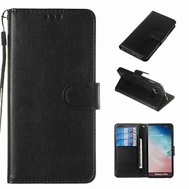 ราคาถูก เคสและซองสำหรับ Galaxy S6-Case สำหรับ Samsung Galaxy S9 / S9 Plus / S8 Plus Wallet / Card Holder / Shockproof ตัวกระเป๋าเต็ม สีพื้น Hard หนัง PU