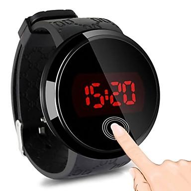 billige Herreure-Herre Digital Watch Digital Gummi Sort 30 m Vandafvisende Afslappet Ur Sej Digital Mode - Sort Et år Batteri Levetid / Rustfrit stål