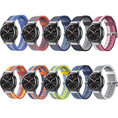 voordelige Horlogebandjes voor Samsung-Horlogeband voor Gear S3 Frontier / Gear S3 Classic / Samsung Galaxy Watch 46 Samsung Galaxy Sportband Stof / Nylon Polsband