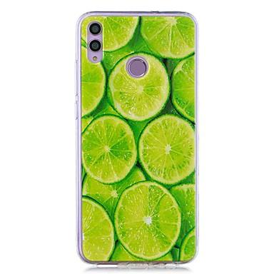 voordelige Huawei Y-serie hoesjes / covers-hoesje voor huawei honor 8x / huawei p smart (2019) patroon / transparante achterkant groene citroen zachte tpu voor mate20 lite / mate10 lite / y6 (2018) / p20 lite / nova 3i / p smart / p20 pro