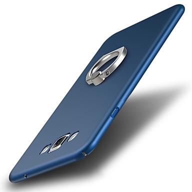 Недорогие Чехлы и кейсы для Galaxy A7-Кейс для Назначение SSamsung Galaxy A7 Защита от удара / Кольца-держатели Кейс на заднюю панель Однотонный Твердый пластик