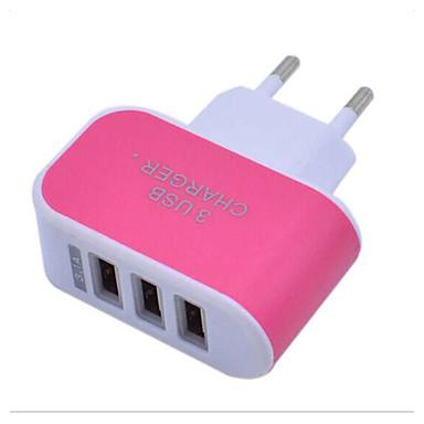 저렴한 휴대폰 충전기-LITBest 홈 충전기 USB 충전기 EU 플러그 보통 3 USB 포트 3.1 A 100~240 V 용