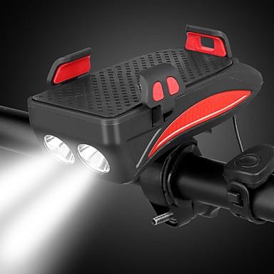 رخيصةأون اضواء الدراجة-LED اضواء الدراجة ضوء الدراجة الأمامي LED دراجة جبلية ركوب الدراجة ضد الماء الأمان محمول li-بوليمر 400 lm بطارية قابلة لإعادة الشحن أبيض أحمر Camping / Hiking / Caving أخضر