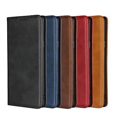 voordelige Galaxy Note-serie hoesjes / covers-case voor Samsung Galaxy Note 8 / note 9 flip / met standaard / schokbestendig full body koffers stevig gekleurd hard leder voor notitie 8 / note 9