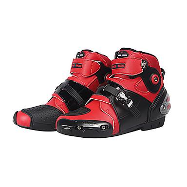 voordelige Beschermende uitrusting-mannen zachte motorlaarzen biker waterdichte snelheid motorcross laarzen antislip motorfiets schoenen