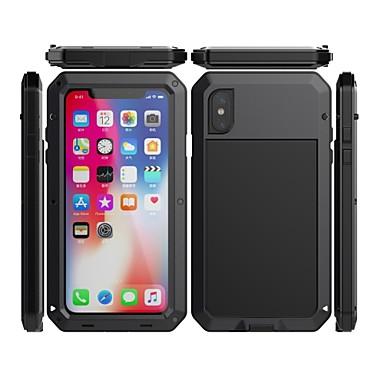Недорогие Кейсы для iPhone-чехол для яблока iphone xr / iphone xs max зеркало / противоударный / пылезащитный чехол для всего тела броня / с геометрическим рисунком / однотонное закаленное стекло / силикагель / металлический