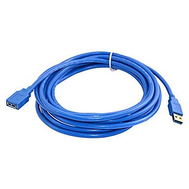 hesapli Kablolar ve Adaptörler-3 m hızlı hızlı usb 3.0 uzatma kablosu usb kablosu erkek kadın veri senkronizasyon kablosu