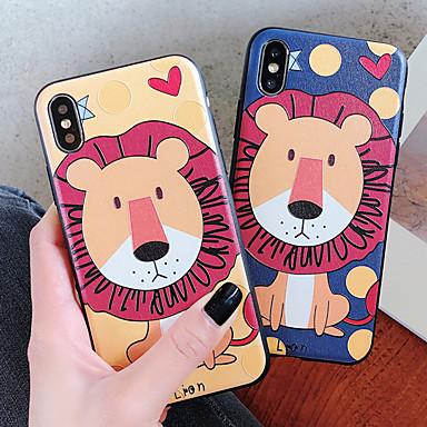 voordelige iPhone-hoesjes-hoesje Voor Apple iPhone XS / iPhone XR / iPhone XS Max Schokbestendig / Stofbestendig / Waterbestendig Achterkant dier / Cartoon Zacht TPU