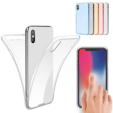 voordelige iPhone 7 hoesjes-hoesje voor iphone xs max xs 360 full body TPU hoesje voor iphone xr 8 plus 8 7 plus 7 6 plus 6