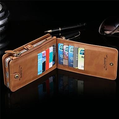 Недорогие Чехлы и кейсы для Galaxy Note 4-Кейс для Назначение SSamsung Galaxy Note 9 / Note 8 / Note 5 Кошелек / Бумажник для карт / Защита от удара Чехол Однотонный Твердый Кожа PU / ПК