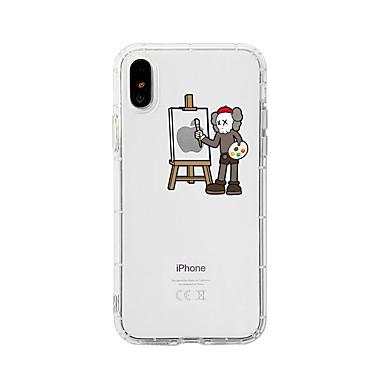 voordelige iPhone 6 hoesjes-hoesje Voor Apple iPhone XS / iPhone XR / iPhone XS Max Schokbestendig / Stofbestendig / Transparant Achterkant Kat / Transparant / Cartoon TPU