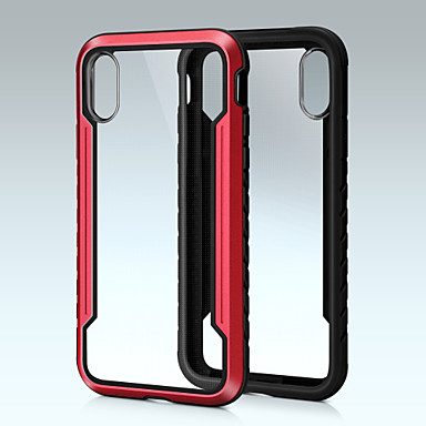 voordelige iPhone X hoesjes-hoesje voor Apple iPhone XS / iPhone XS Max schokbestendig Achterkant Armor Hard Aluminium voor iPhone XS / iPhone XS Max