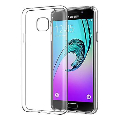 Недорогие Чехлы и кейсы для Galaxy A3-Кейс для Назначение SSamsung Galaxy A3 Ультратонкий / Прозрачный Кейс на заднюю панель Прозрачный Мягкий ТПУ
