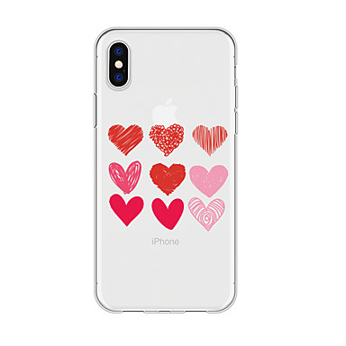 voordelige iPhone 6 Plus hoesjes-hoesje voor iphone x xs max xr xs achterkant zachte hoes tpu simple heart soft tpu voor iphone5 5s se 6 6p 6s sp 7 7p 8 8p16 * 8 * 1